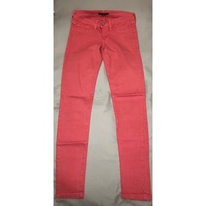 Flying Monkey Pink / Coral Skinny Jeans Size 5